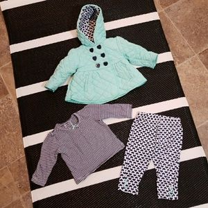 Little Me 3 piece set, Baby size 12 months